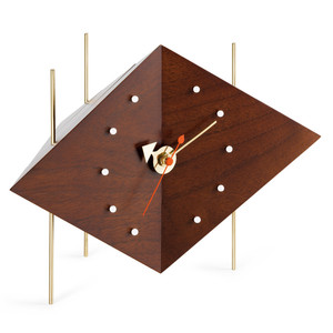 Vitra - Diamond Clock, solid walnut