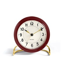 Rosendahl - AJ Station Alarm Clock, burgundy red / white