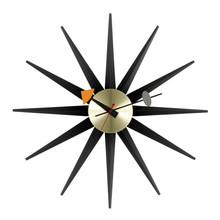 Vitra - Sunburst Clock, black/ brass