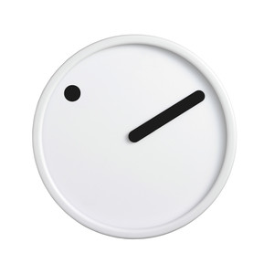 Rosendahl Timepieces - Picto Wall Clock, black on white