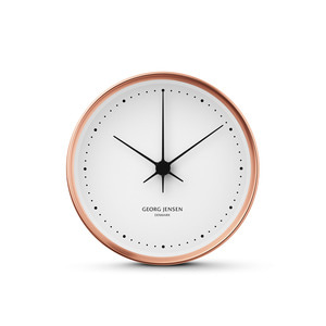 Georg Jensen - Henning Koppel Wall Clock Ø 10 cm, copper / white