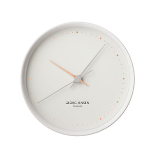 Georg Jensen - Henning Koppel Wall Clock Graphic Ø 22 cm, white