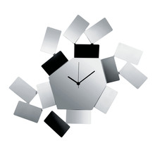 Alessi - La Stanza Dello Scirocco Wall Clock, polished stainless steel