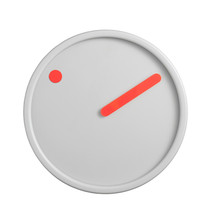 Rosendahl Timepieces - Picto Wall Clock, orange on light grey