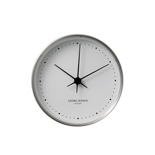 Georg Jensen - Henning Koppel Wall Clock Ø 10 cm, stainless steel / white